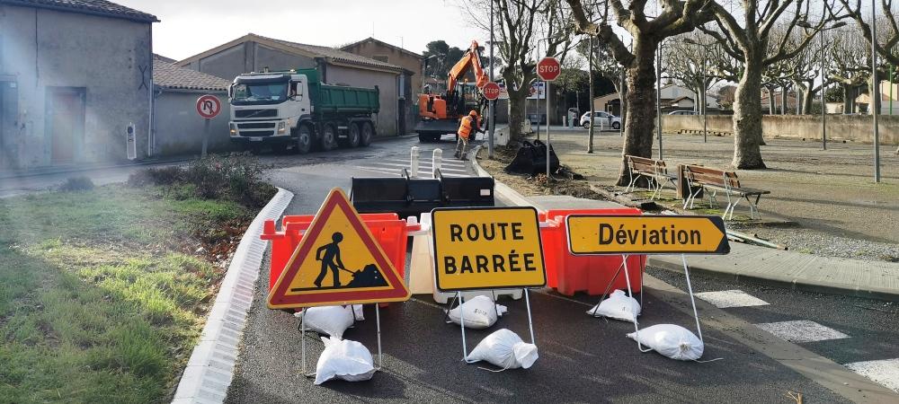 Grands travaux pour la rue du Chanoine Andrieu