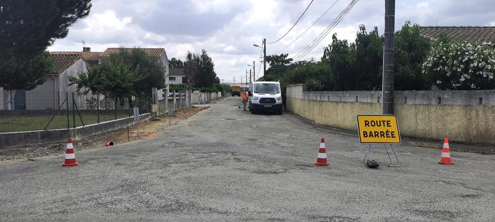La rue Verlaine en travaux
