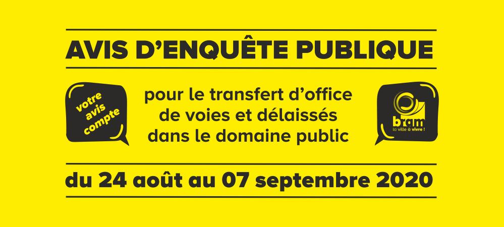 Enquête Publique du 24 août au 07 septembre 2020
