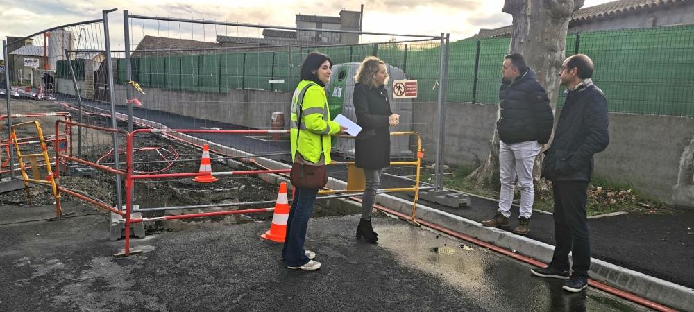 Rue des Fleurs : travaux en cours après la rupture d'une canalisation