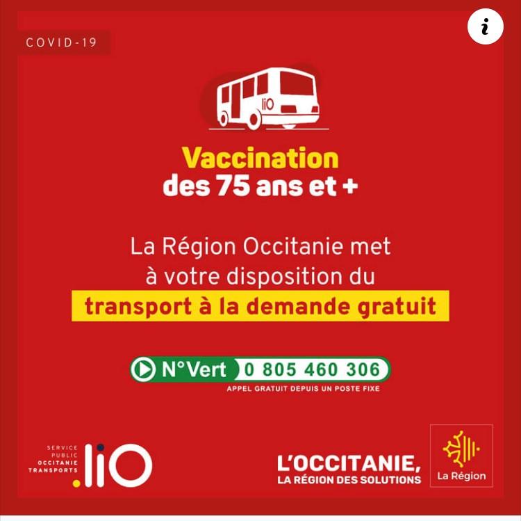 Transport à la demande - Centre de vaccination COVID
